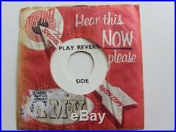 Elvis Presley Demo Orig 1957 Paralyzed One Sided In Rush Release Sleeve