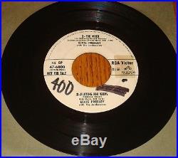 Elvis Presley / Dinah Shore White Label Promo 45 Ep Rare! 1957