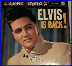 Elvis Presley ELVIS IS BACK! LSP-2231 LIVING STEREO Very Rare GERMAN Pink RCA