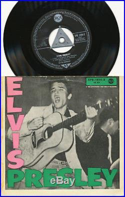 Elvis Presley EP deutsche RCA EPB-1254-2 ELVIS PRESLEY S3 (1957) RARE STICKER