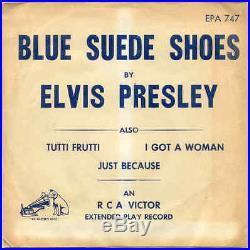 Elvis Presley EPA-747 Blue Suede Shoes 1st EP with Temporary Sleeve 1956