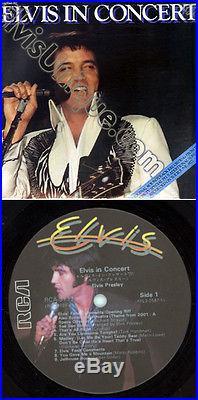 Elvis Presley Elvis In Concert RCA Tribute Picture Labels Uber Rare LP