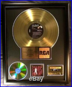 Elvis Presley Elvis NBC TV Special LP, Cassette, CD Gold Non RIAA Record Award