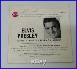 Elvis Presley Elvis Sings Christmas Songs Rare Red Cover Aussie 50's Ep