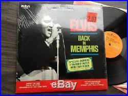 Elvis Presley FROM MEMPHIS TO VEGAS LSP-6020 (ORIGINAL 1969 USA) PHOTO STICKER