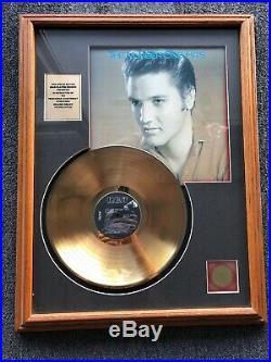 Elvis Presley Framed 24k Gold Plated Record Numbered 0202 of 1500 RARE