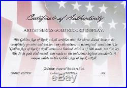 Elvis Presley Framed 24k Gold Record Etched Lyrics Love Me Tender USA Ships Free
