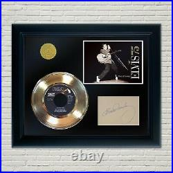 Elvis Presley Framed 45 Gold Record Reproduction Signature Display 2