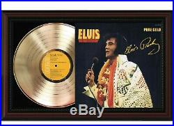 Elvis Presley Framed Cherry Wood Reproduction Signature LP Record Display 2 M4