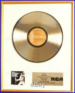Elvis Presley From Boulevard Memphis Tennessee LP Gold Non RIAA Record Award