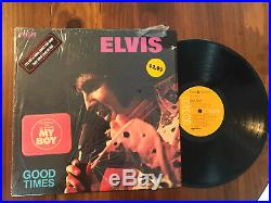 Elvis Presley GOOD TIMES original orange RCA in shrink with both stickers LP NM