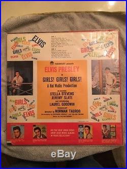 Elvis Presley Girls Girls Girls Lp Vinyl with 1963 Calendar Original Press (NM)