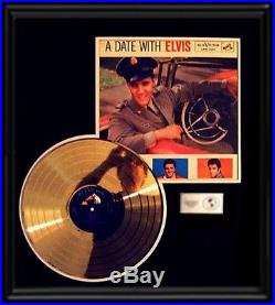 Elvis Presley Gold Record A Date With Elvis Rare 1959 Award Disc Lp Album Frame