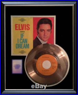 Elvis Presley Gold Record If I Can Dream Rare Disc & 45 RPM Sleeve Rare