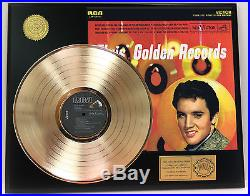 Elvis Presley Gold Records Gold Lp Ltd Edition Rare Record Display