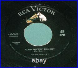 Elvis Presley Gold Standard 447-0602 Good Rockin Tonight 45 With Sleeve 1964 MINT