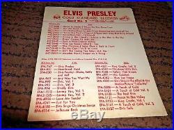 Elvis Presley Gold Standard Records Card No. 2 Record Store Promo vintage 1950's