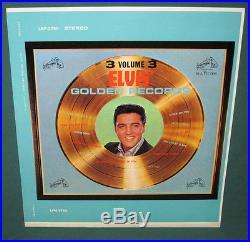 Elvis Presley Golden Records 3 Original Cover Slick Front / Back + labels NM