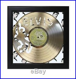 Elvis Presley Golden Records Laser Cut Record With Poster Art Shadowbox C3