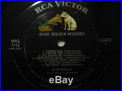 Elvis Presley Golden Records Rca Victor Mkl 1116 Very Rare Mexican Lp