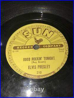 Elvis Presley Good Rockin Tonight 1954 Sun Record 210 Rockabilly 78 Read Deta