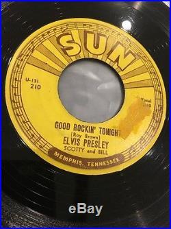 Elvis Presley Good Rockin' Tonight 45 Rpm Sun #210 Original With Push Marks