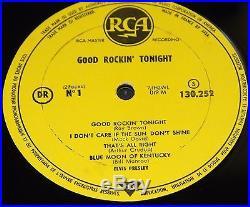 Elvis Presley Good Rockin' Tonight French France Tonight Rca 10 Lp 1958