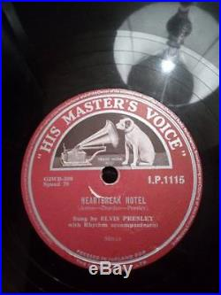 Elvis Presley Heartbreak Hotel I was The One Rare Irish Pressing 78 RPM HMV