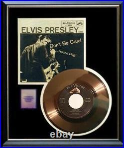 Elvis Presley Hound Dog Rare 45 RPM Gold Metalized Record Rare Vinyl Non Riaa