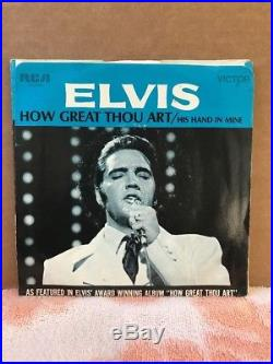 Elvis Presley How Great Thou Art/His Hand In Mine RCA 74-0130 Rare Sleeve