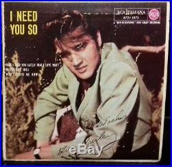 Elvis Presley I Need So You Ep Italy 1957-rca Italiana A72v 0175 Blue Label