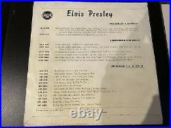 Elvis Presley ITALIANA RCA BLUE LABEL MOON RECORD 1957 45N0612- EXCELLENT EP