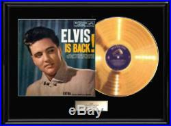 Elvis Presley Is Back! Gold Metalized Record Vinyl Non Riaa Award Elvis Is Back