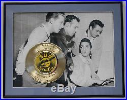 Elvis Presley Jerry Lee Lewis Carl Perkins Johnny Cash Framed 24k Gold Record