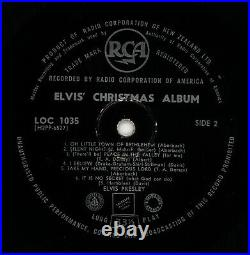 Elvis Presley LOC 1035 Christmas Album, New Zealand 1st pressing ULTRA RARE