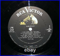 Elvis Presley LPM-1254 Elvis 1st S/T Debut Self LP R 14S/19S 1956 Early Press