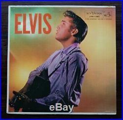 Elvis Presley LPM-1382 1950s US Army LP GIGA RARE Military Resco PX Stamp beauty
