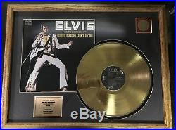 Elvis Presley Live From Madison Square Garden Certified Gold Record