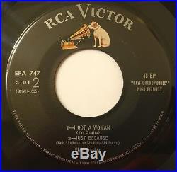Elvis Presley Lot Epb-1254, Epa-747 White & Black Strip-45 Record No 47 Lpm 1956
