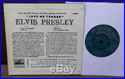 Elvis Presley Love Me Tender E. P Hmv 7eg8199 7 45rpm Vinyl Record Stunning Ex+