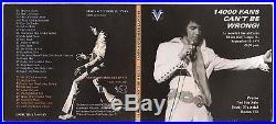 Elvis Presley Lp + CD 14000 Fans Can't Be Wrong! 2014 VV Sr September 13 1970+