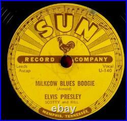 Elvis Presley MILKCOW BLUES BOOGIE/YOU'RE A HEARTBREAKER 1955, 10 78 RPM