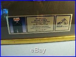Elvis Presley MOODY BLUE LP Gold Non RIAA Framed Sales Award Record RCA Records