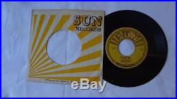 Elvis Presley MYSTERY TRAIN Sun Label 45 RPM ORIGINAL 1955 ROCKABILLY