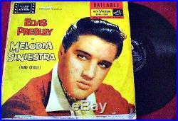 Elvis Presley Melodia Siniestra (king Creole) Rare Original Uruguay