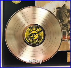 Elvis Presley Million Dollar Quartet Gold Lp Ltd Edition Rare Record Display