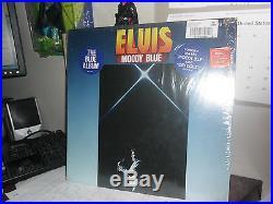 Elvis Presley Moody Blue LP Album Blue/Black Splash Version VERY RARE #2428-1