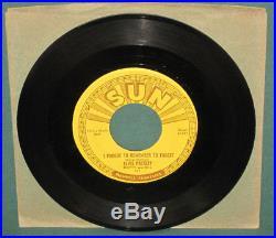 Elvis Presley Mystery Train 45 Sun 223 Original 1955 Excellent Labels