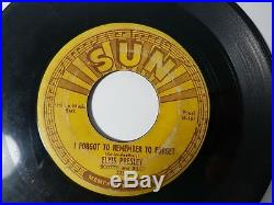 Elvis Presley Mystery Train I Forgot To Remember To Forget 1955 7 VInyl SUN