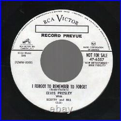 Elvis Presley Mystery Train / I Forgot to Remember to Forget RCA 47-6357 1955